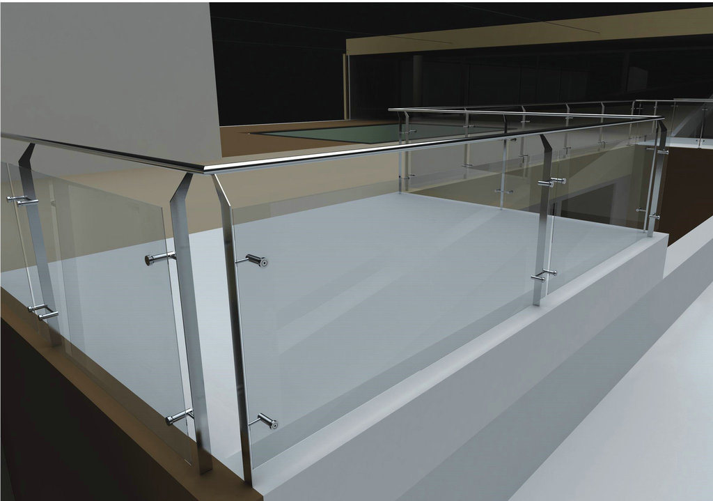 Best Selling Roof Balcony Glass Balustrade with AS/NZS2208 for Commercial Building