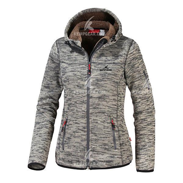 China Stylish Polyester Yarn Dye Fleece Jacket for Women (KGJ1692 ...