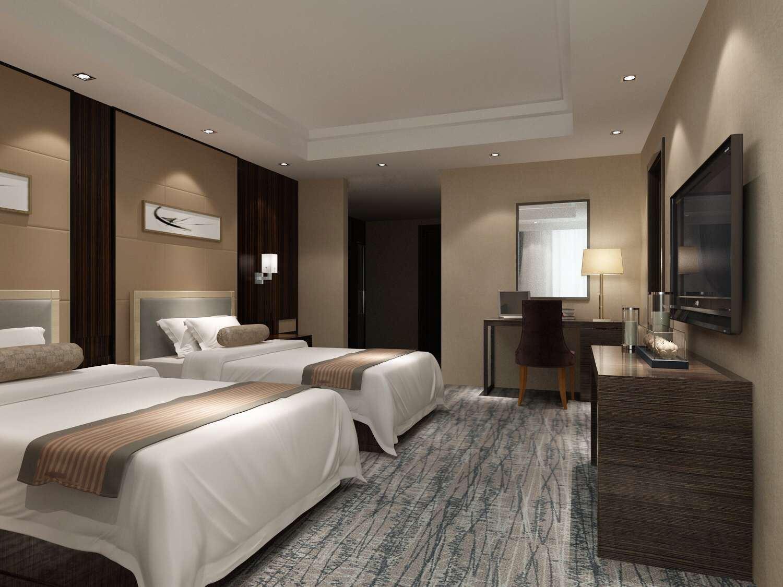 Hotel Furniture/Luxury Double Hotel Bedroom Furniture/Standard Hotel Double Bedroom Furniture/Double Hospitality Guest Hotel Bedroom Furniture (NCHB-001001)