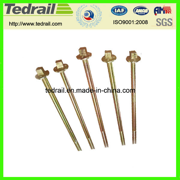 Square Flange Bolts with Round Thread for Tunnel Construction Square Flange Bolts with Round Thread