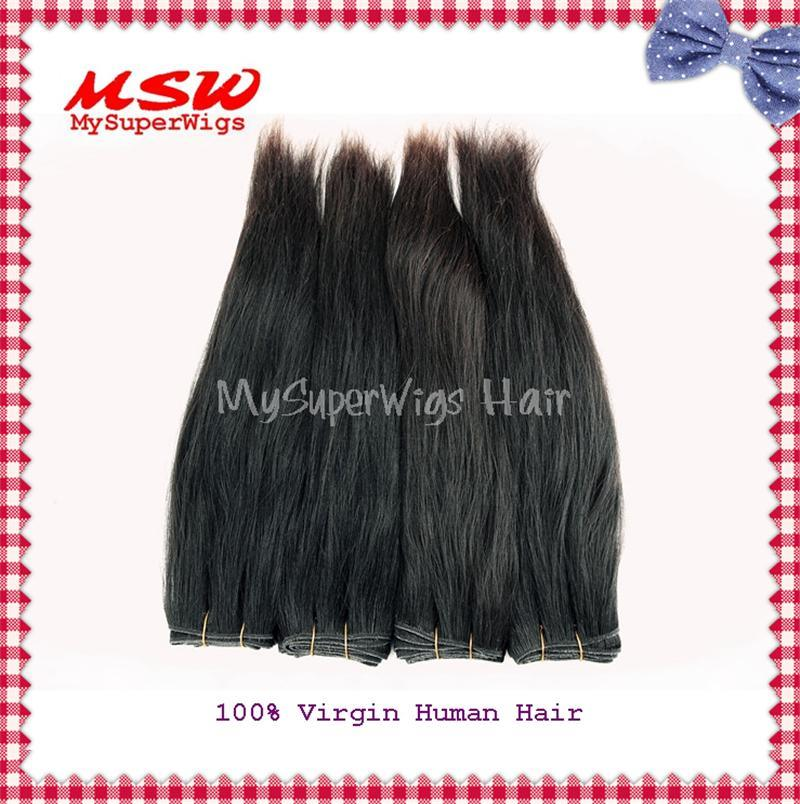 Natural Black Virgin Human Hair Weavings
