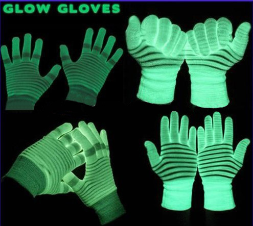 Halloween Product for Promotional Glow Luminous Gloves (TV591)