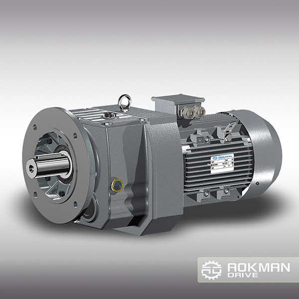 R Series Helical Gearbox Reducer with Flange