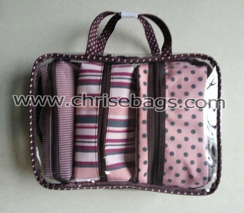 PVC & Polyester Sets Make up Gift Handbag Cosmetic Bag