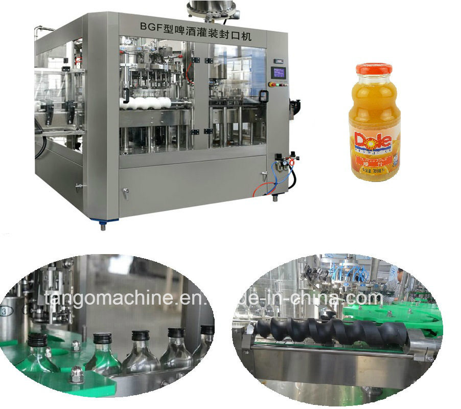 Complete Orange Juice Hot Filling Machine for Glass Bottle