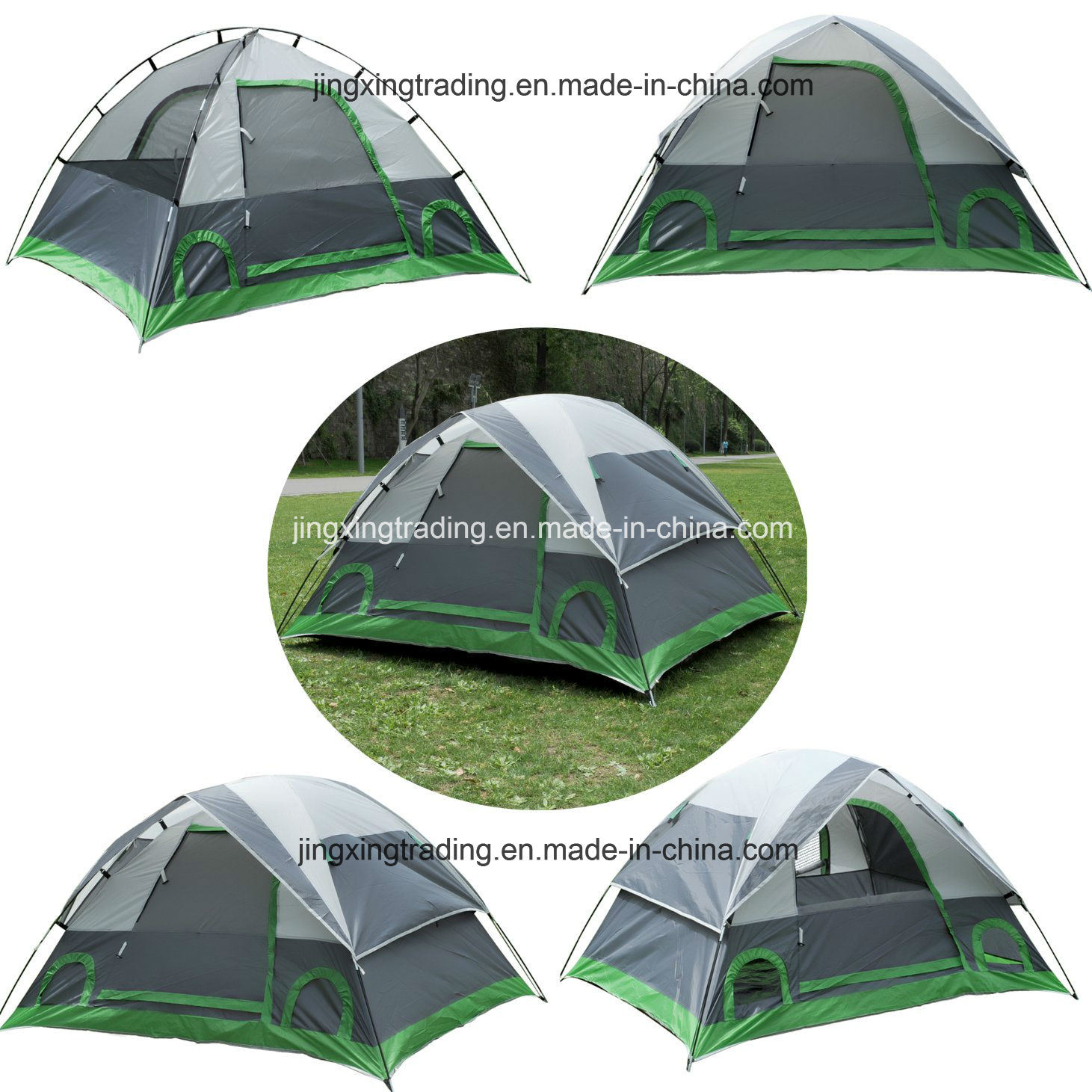 3-4 Persons Polyester Outdoor Camping Tent