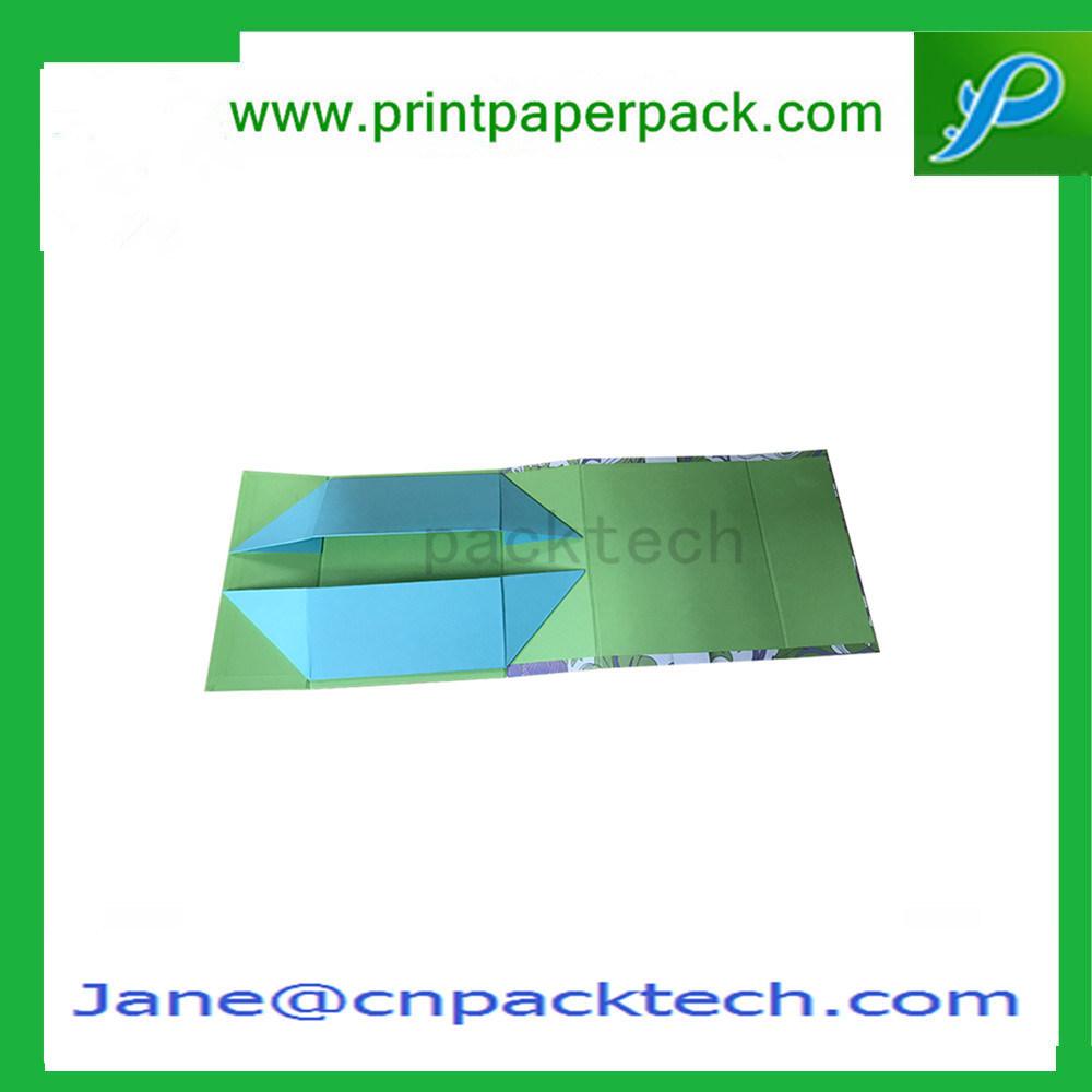 Custom Printed Foldable Gift Box Flat Pack-up Paper Box