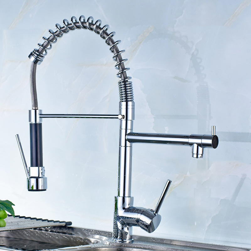 Flg High Quality Chrome Handle/Hole Kitchen Sink Faucet