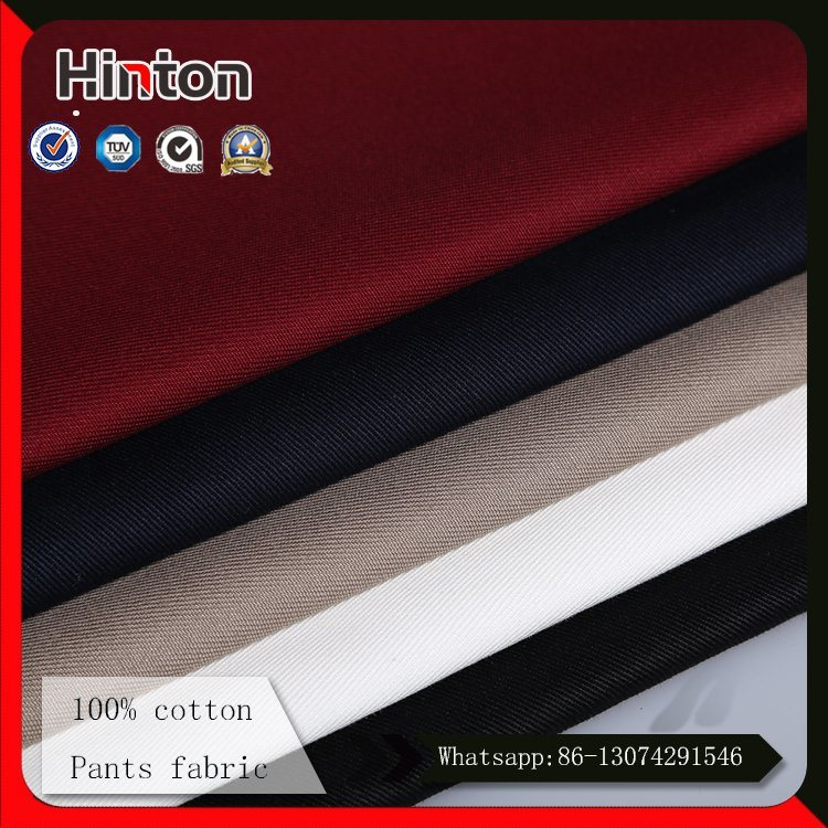 High Quality 100% Cotton Fabric for Pants 240GSM