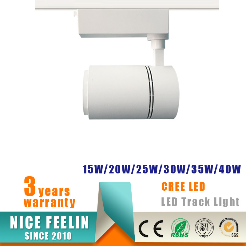 20W CREE COB LED Track Spotlight for Commercial Lighting