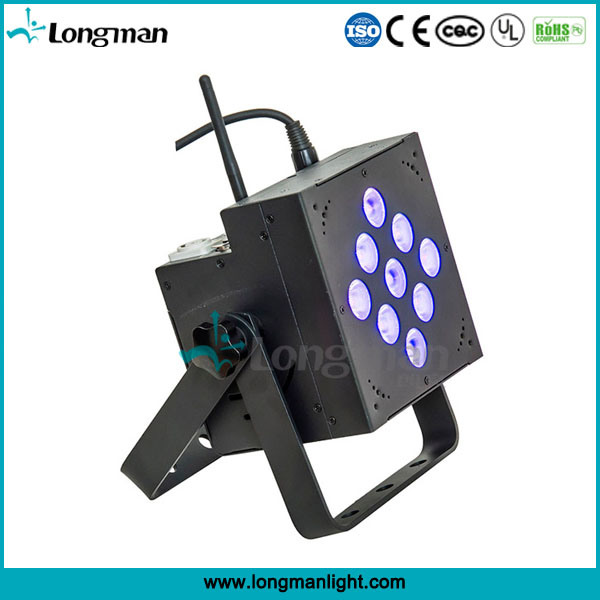 DMX Wireless 9X10W RGBW LED Battery Powered PAR Can