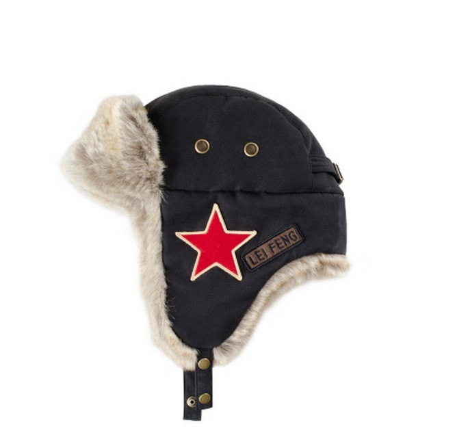 Faux Fur Embroidery Trapper Hat