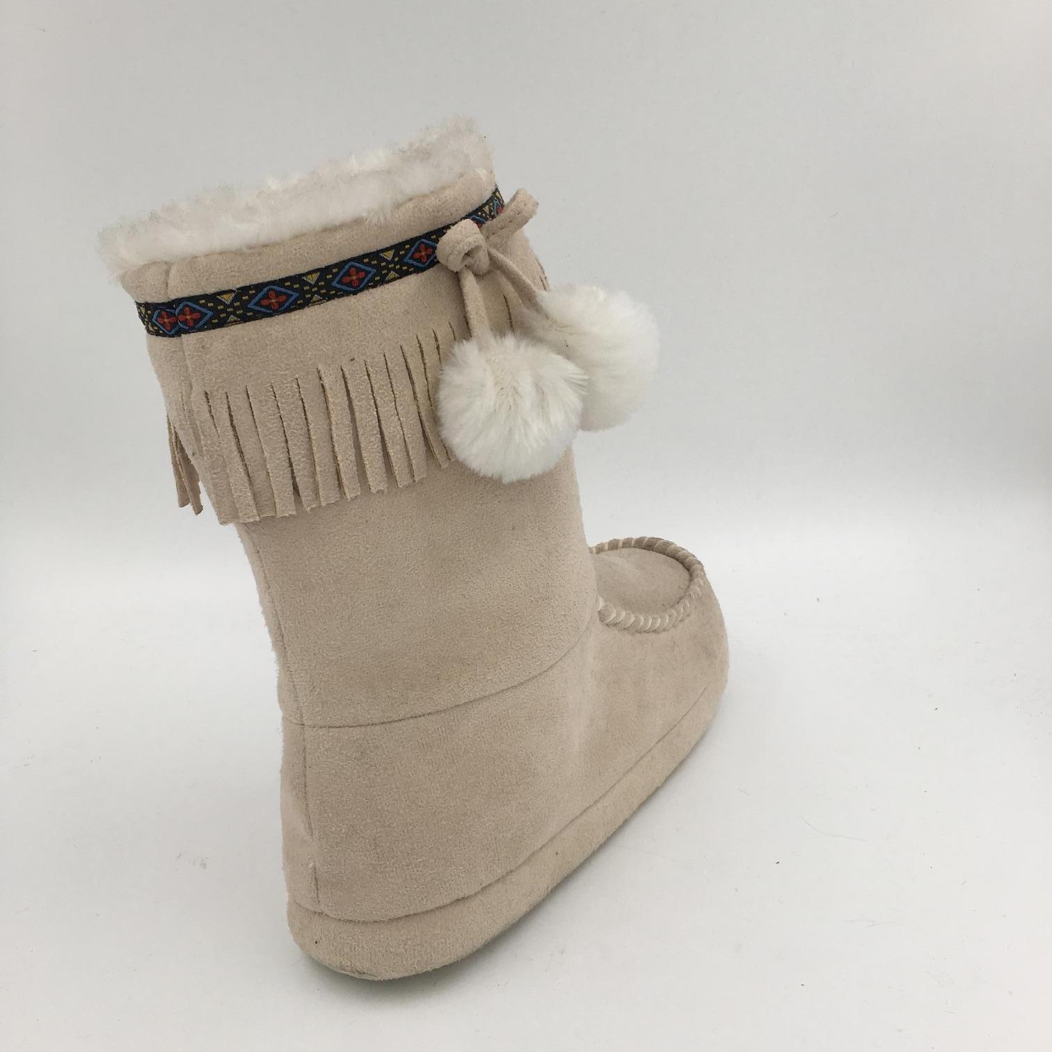 Cream Microfibire MID-Calf Indoor Boots for Lds