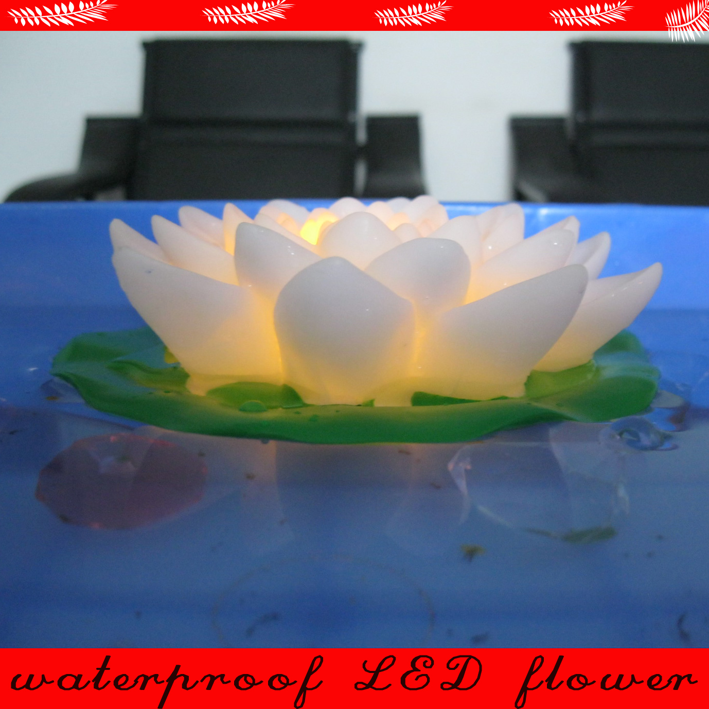 Floating Garden Pool Use Romantic Lotus LED Flower with Multicolor