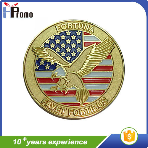 Cheap Enameled Antique Souvenir Metal Coin