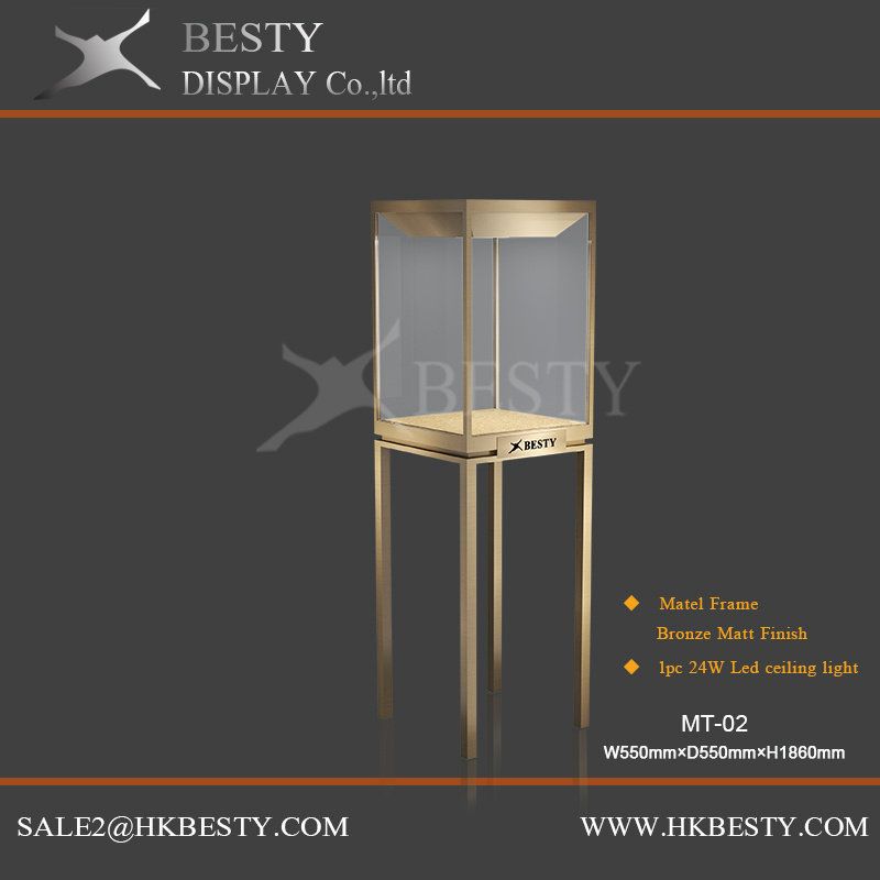 Luxury Besty Metal Display Case with Rotate LED