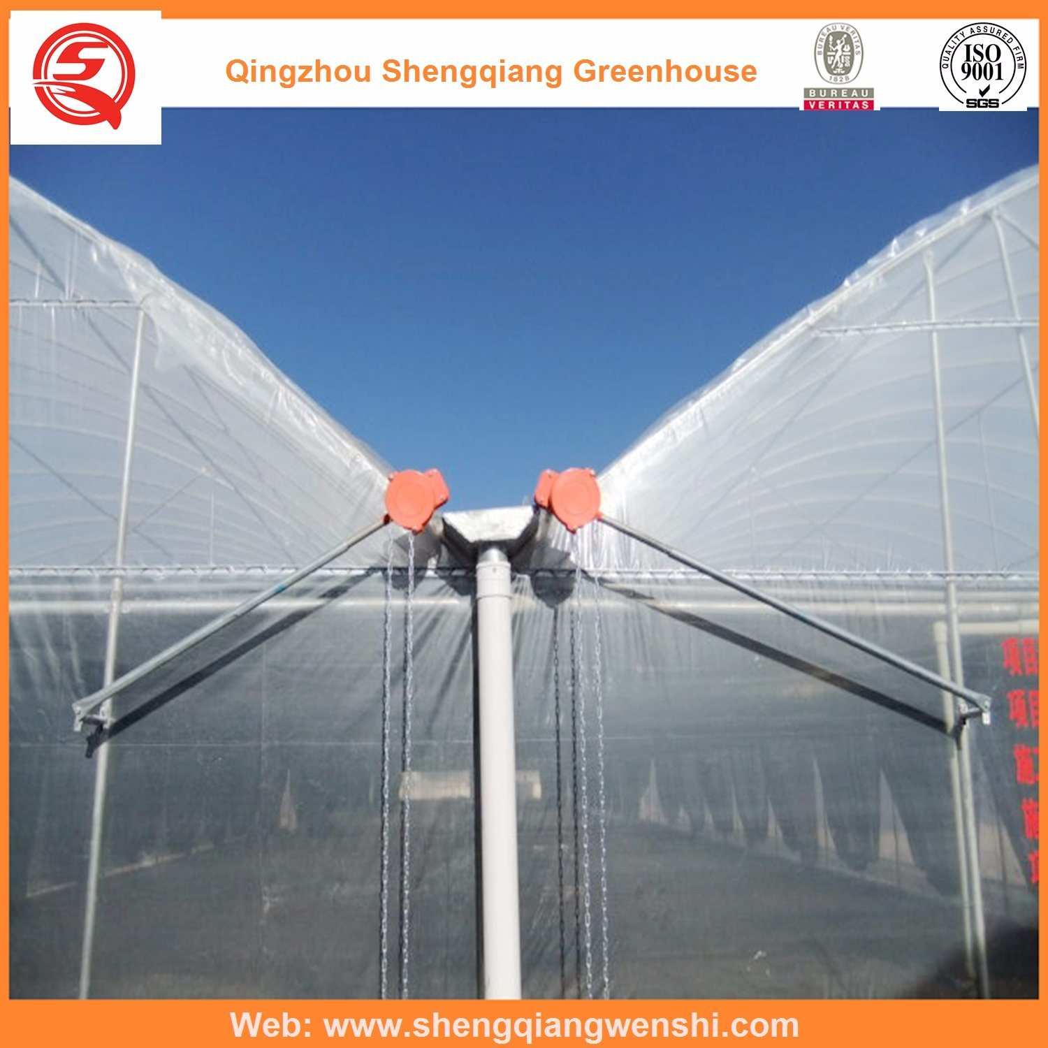 Agriculture Multi Span Plastic Greenhouses for Planting