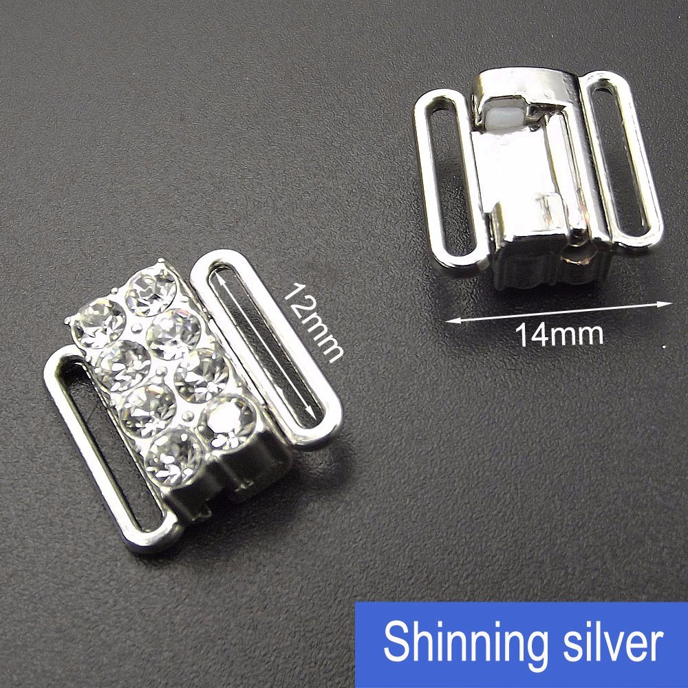12mm Rhinestone Bra Alloy Metal Clip for Underwear Accessories