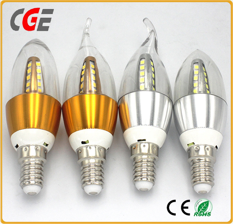 Future LED Candle Light Candle Bulb with Gold Aluminum Housing