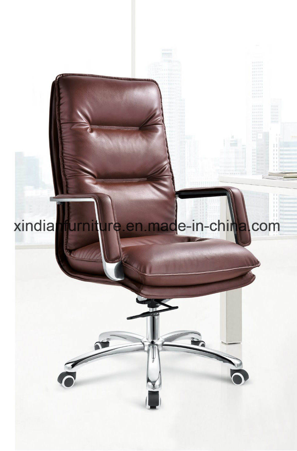 Comfortable Leather Swivel Metal Chair for Wholesale