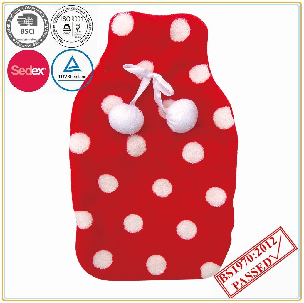Soft Coral Fleece Cover with Hot Water Bottle
