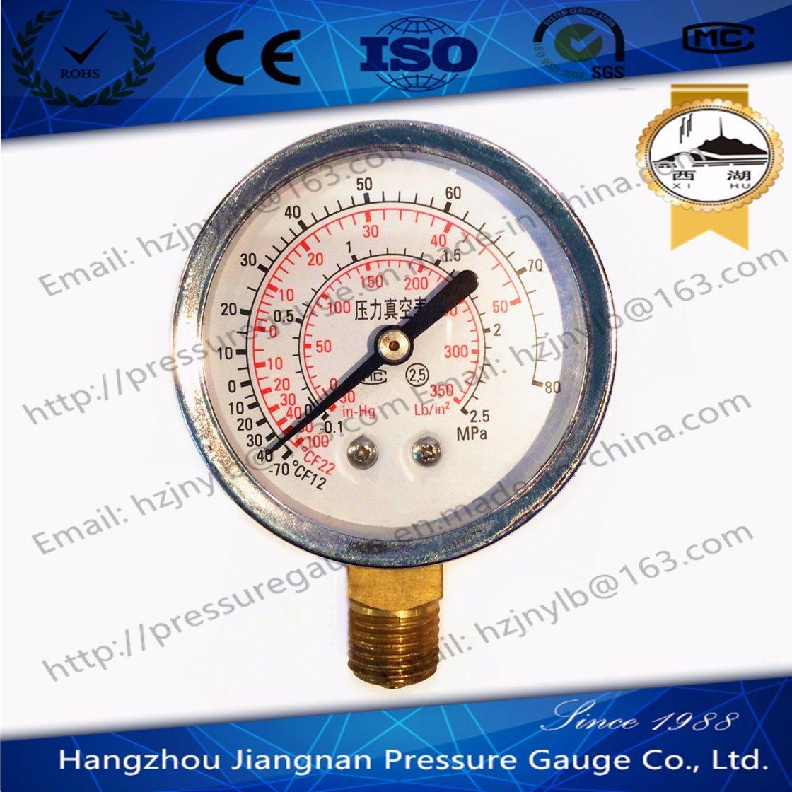 60mm 2.5′′ General Vacuum Pressure Gauge-Refrigeration Pressure Gauge F12/F22