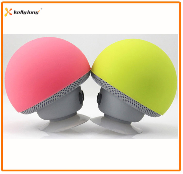 Suction Cup Wireless Mini Mushroom Stereo Bluetooth Speaker