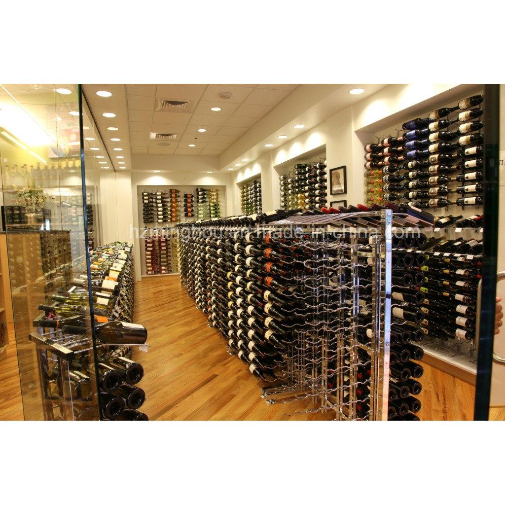 Practical 360-Bottles Metal Floor Storage Wine Bottle Display Rack