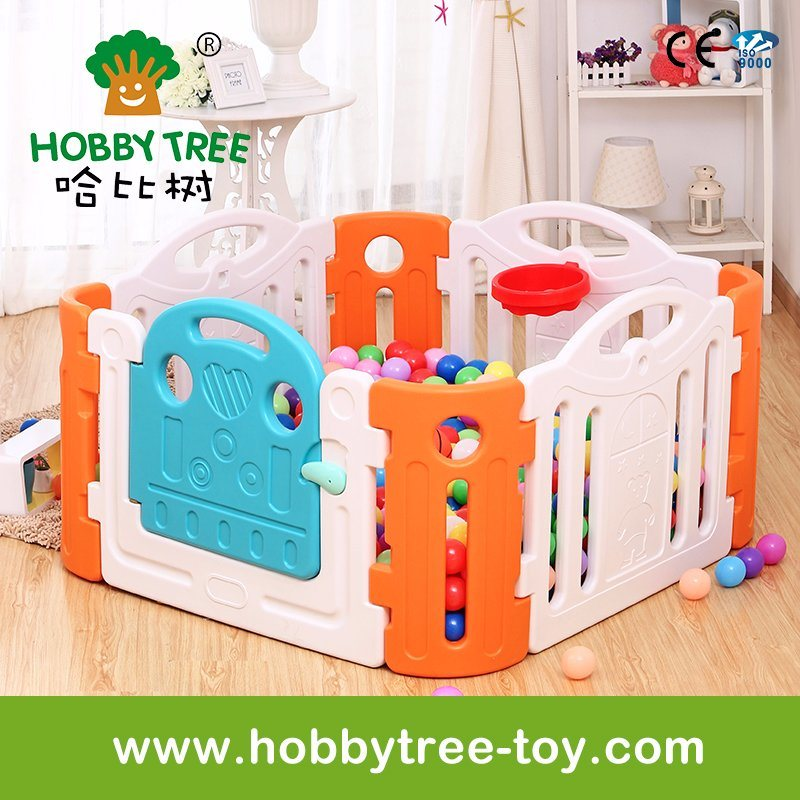 2017 Colorful Indoor Plasty Baby Playpen for Family Use (HBS17038A)