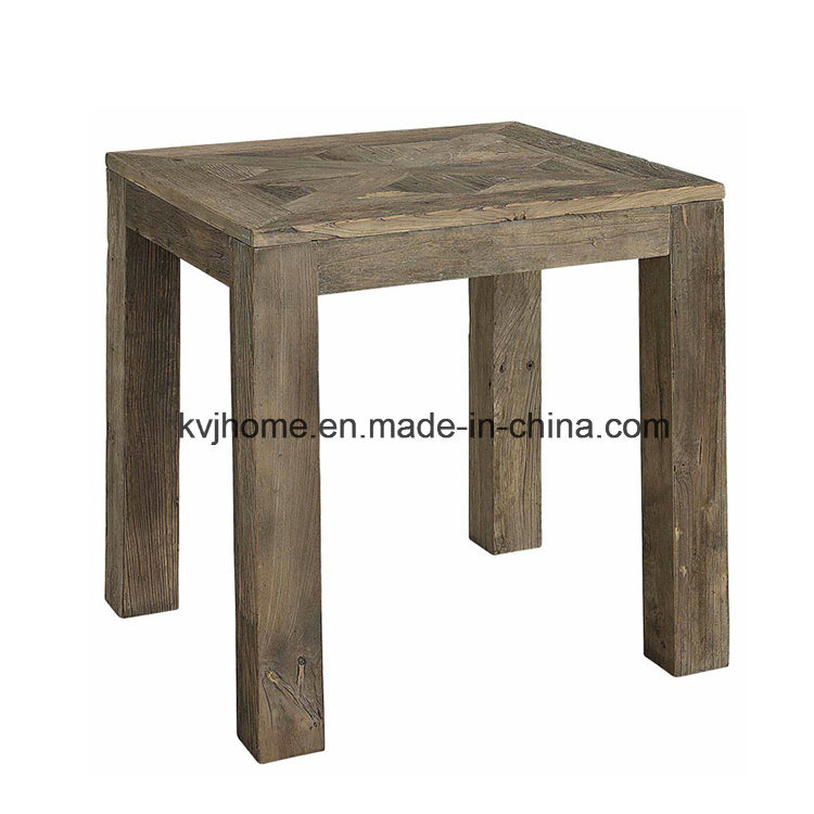 Living Room Vintage Recycled Wood Elm Side Table (AF-117)