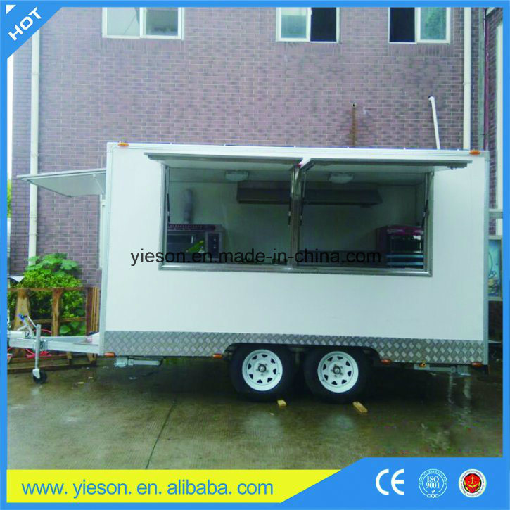 Yieson Manufacturer Fast Food Trucks Mobile Food Trailer with Ce