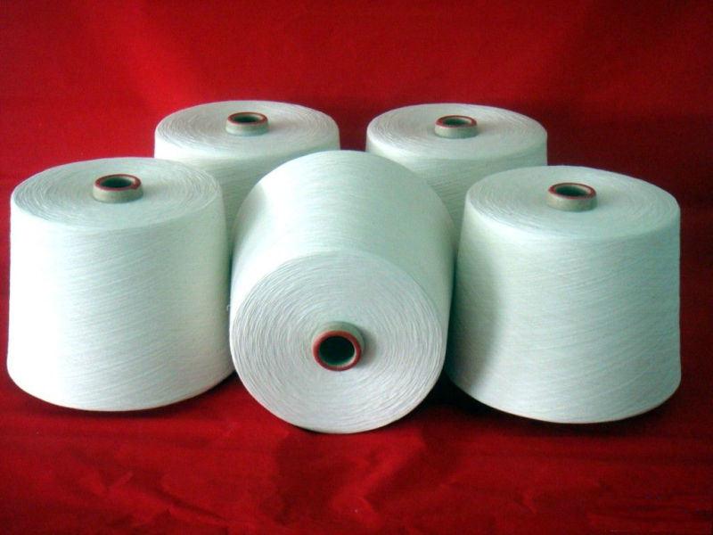 Virgin and Raw White Spun Polyester Yarn for Weaving