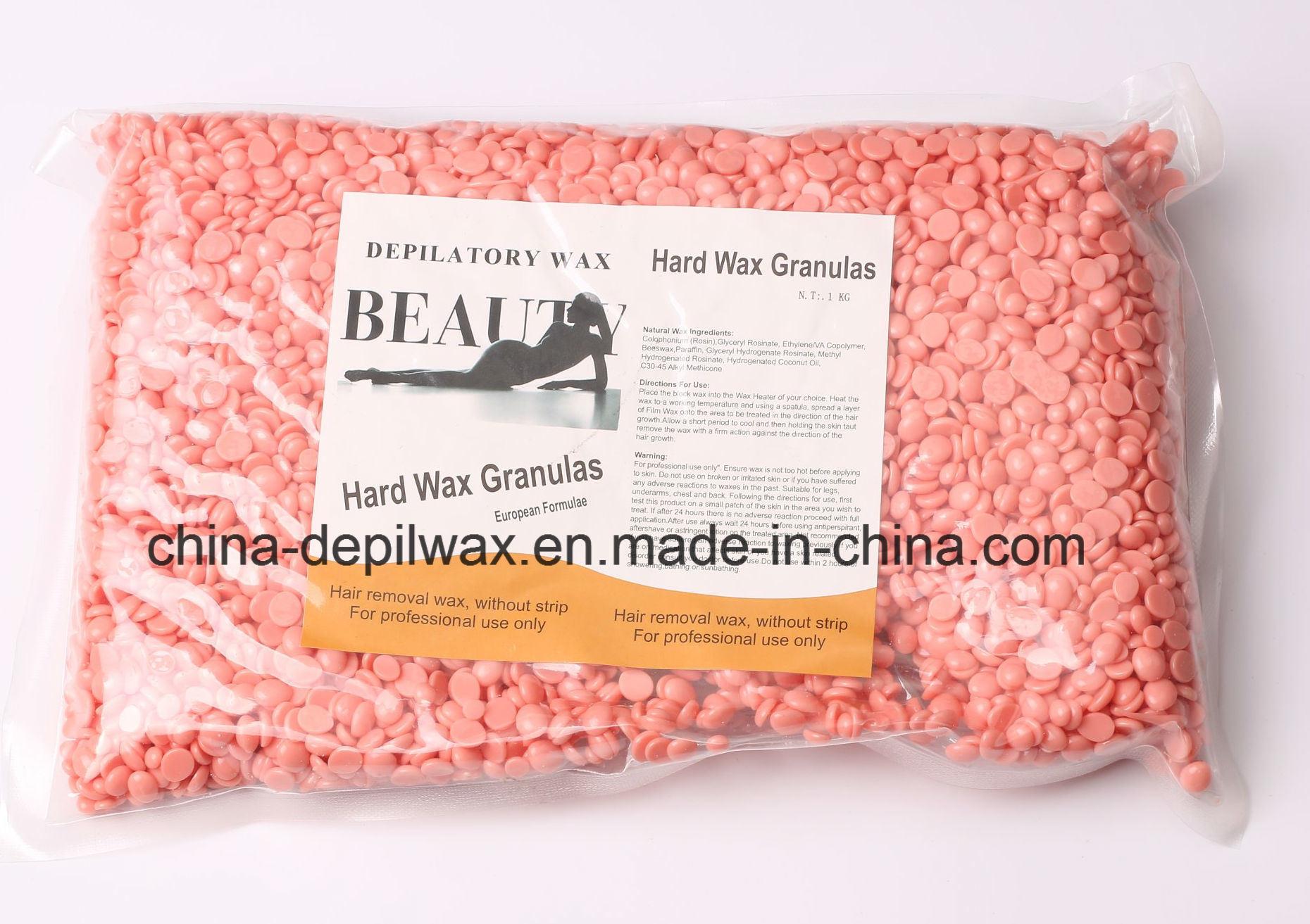 Depilatory Wax Pink Sensitive Hard Wax Pellets of Painless Waxing