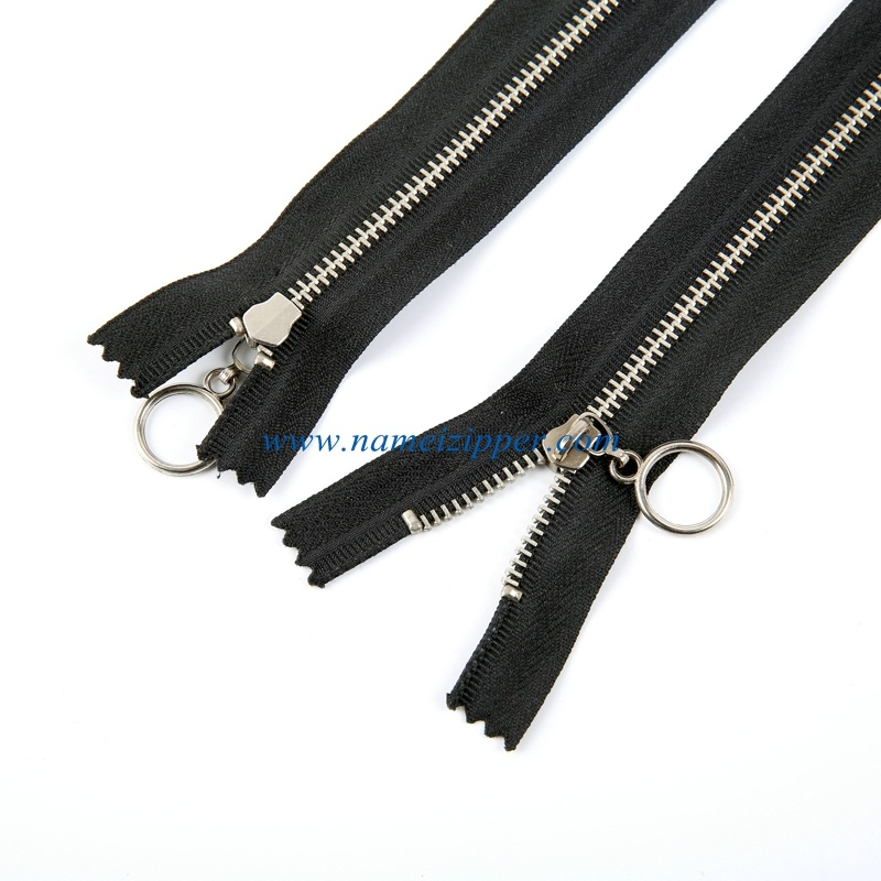 No. 3 Brass Zipper Nickle Teeth Auto Lock Slider