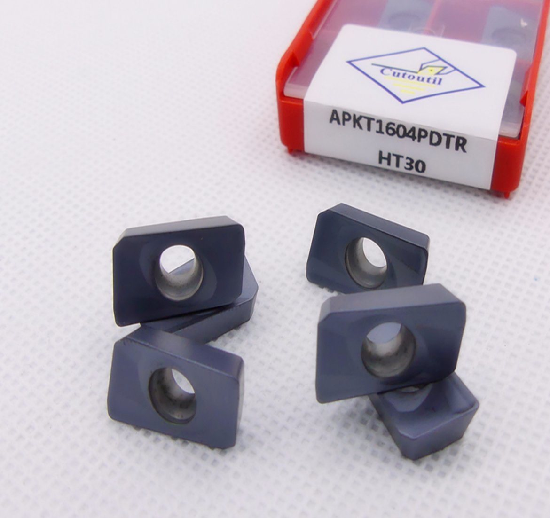 Cutoutil Apkt1604 Ht30 for Steel Alternative for Lamina  Carbide Inserts