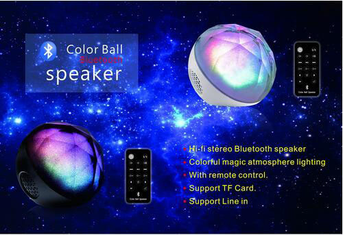 LED Lights Portable Wireless Bluetooth Computer Speaker with Remote Control