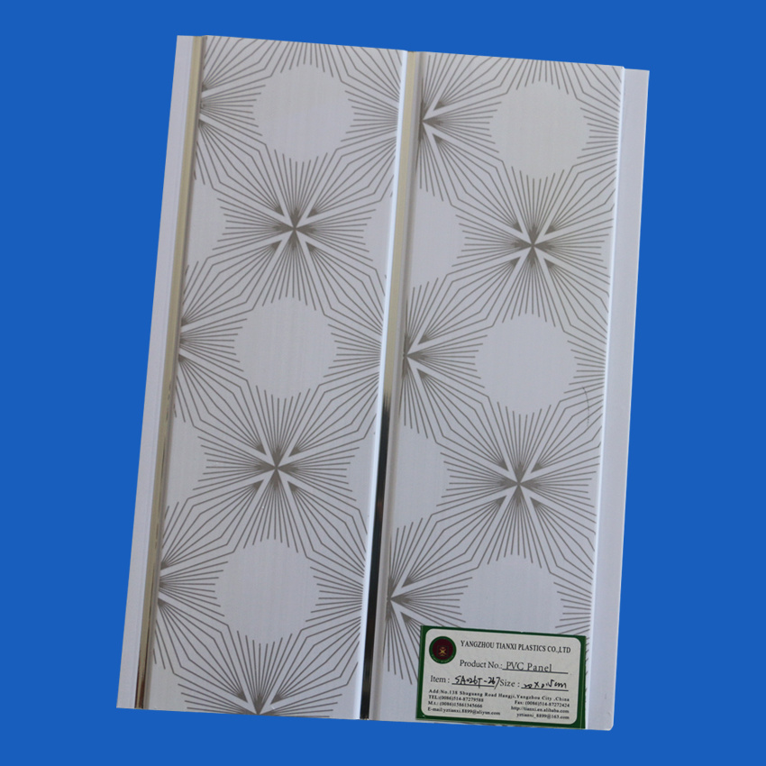 Printing Surface Treatment PVC Ceiling Panels with Different Designs