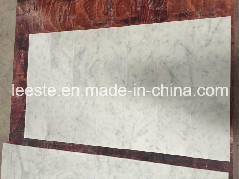 Hot Solid Surface Bianco Carrara White Marble Kitchen Countertop