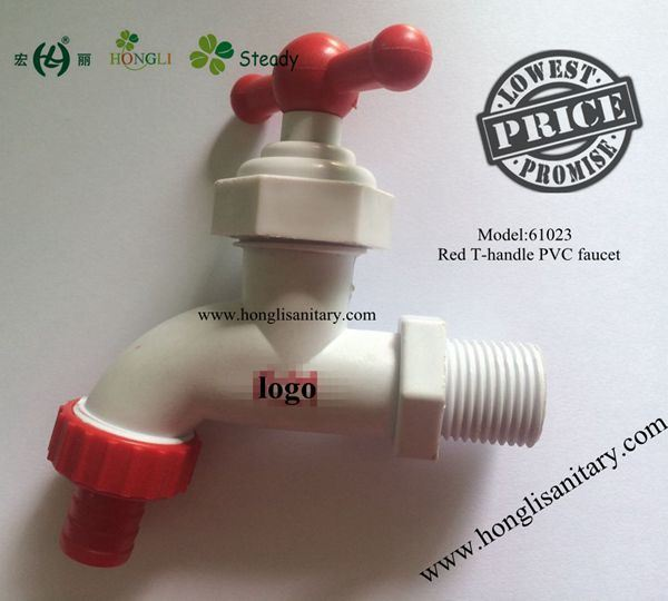 PVC T Handle Plastic Bibcock, Plastic Faucet, PVC Faucet