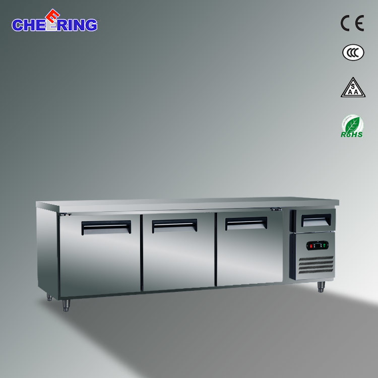 Ce Approval Commercial Work Table Refrigerator for Kitchen (TG24L3)