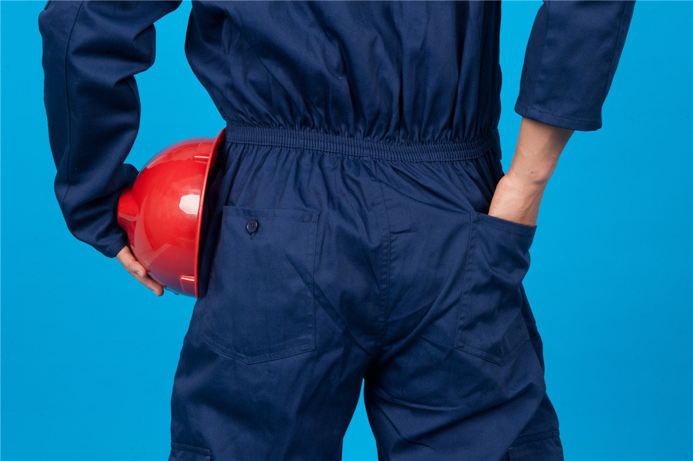 65% Polyester 35%Cotton Long Sleeve Safety Cheap Workwear Coverall (BLY1025)