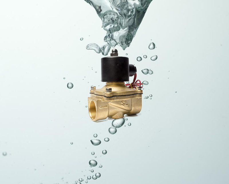 24V DC 2W250-25 Brass Electric Solenoid Water Valve