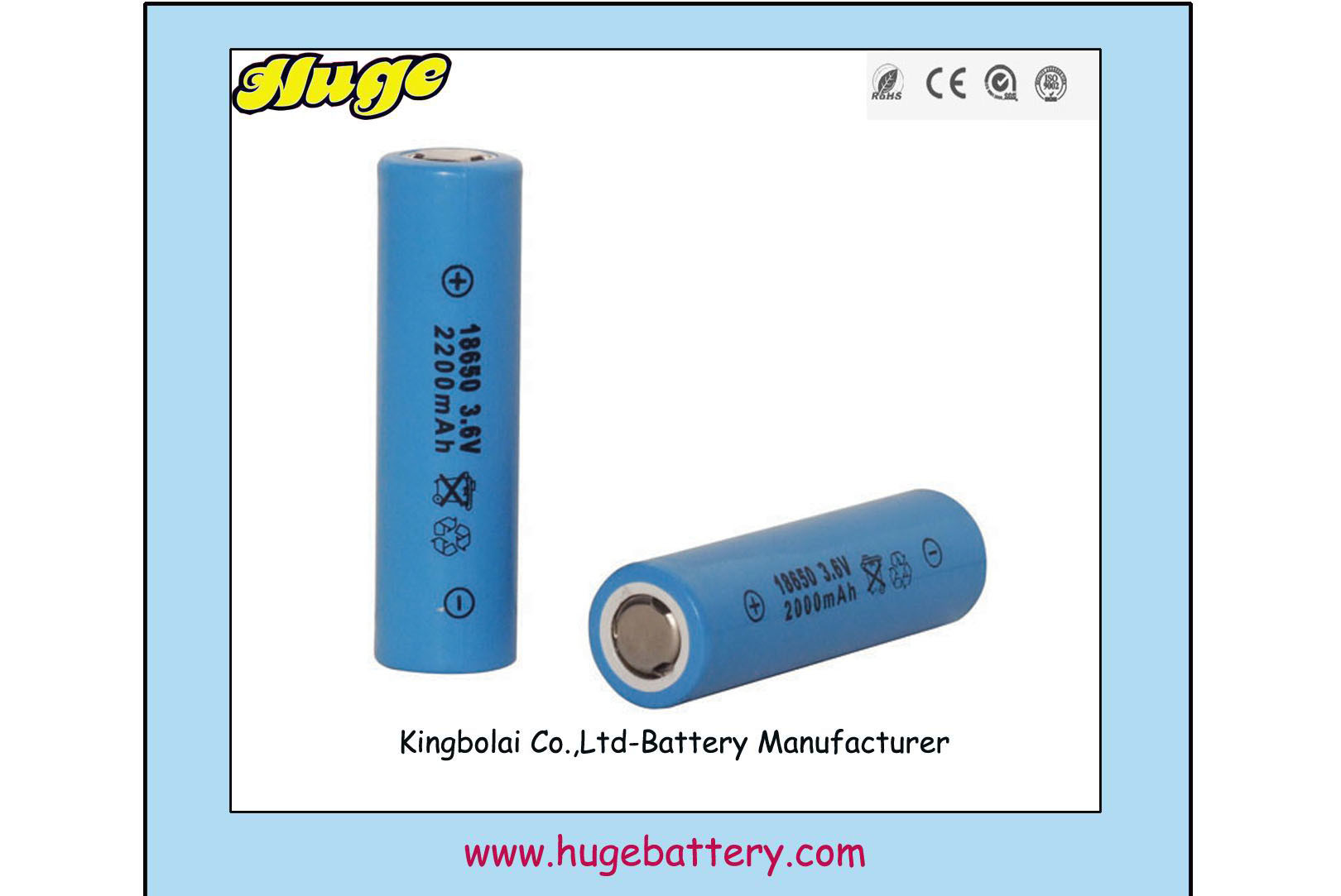 Rechargeable Lithium Ion/Polymer Battery for LED lights ( 18650 2700mAh)