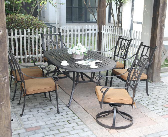 Hot Sale Cast Aluminum Garden Dining Set Furniture