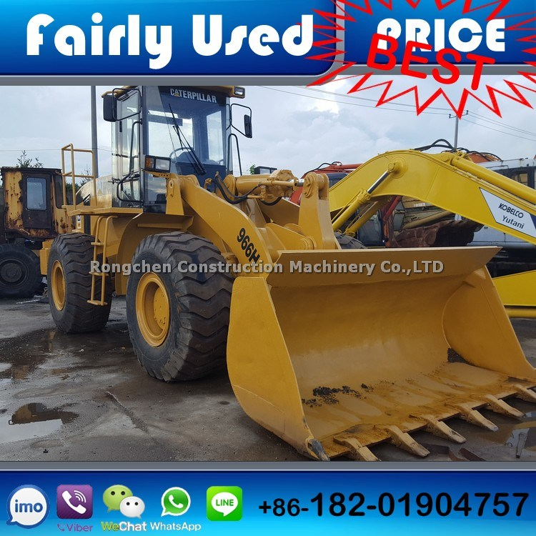 Caterpillar 966h Wheel Loader Used for Sale Low Price Shanghai