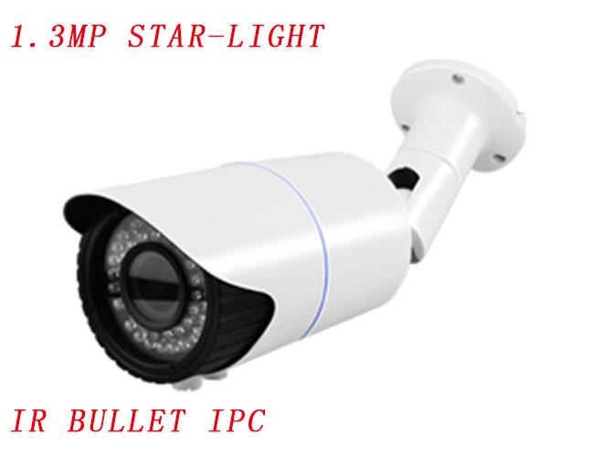 Star-Light 1.3MP HD Infrared Bullet IP Camera, Adjustable Saturation, Brightness and Contrast Camera with 6mm-10mm Manual Varifocal Lens {Ipc-Eqb5413PE-IR3-Vf}