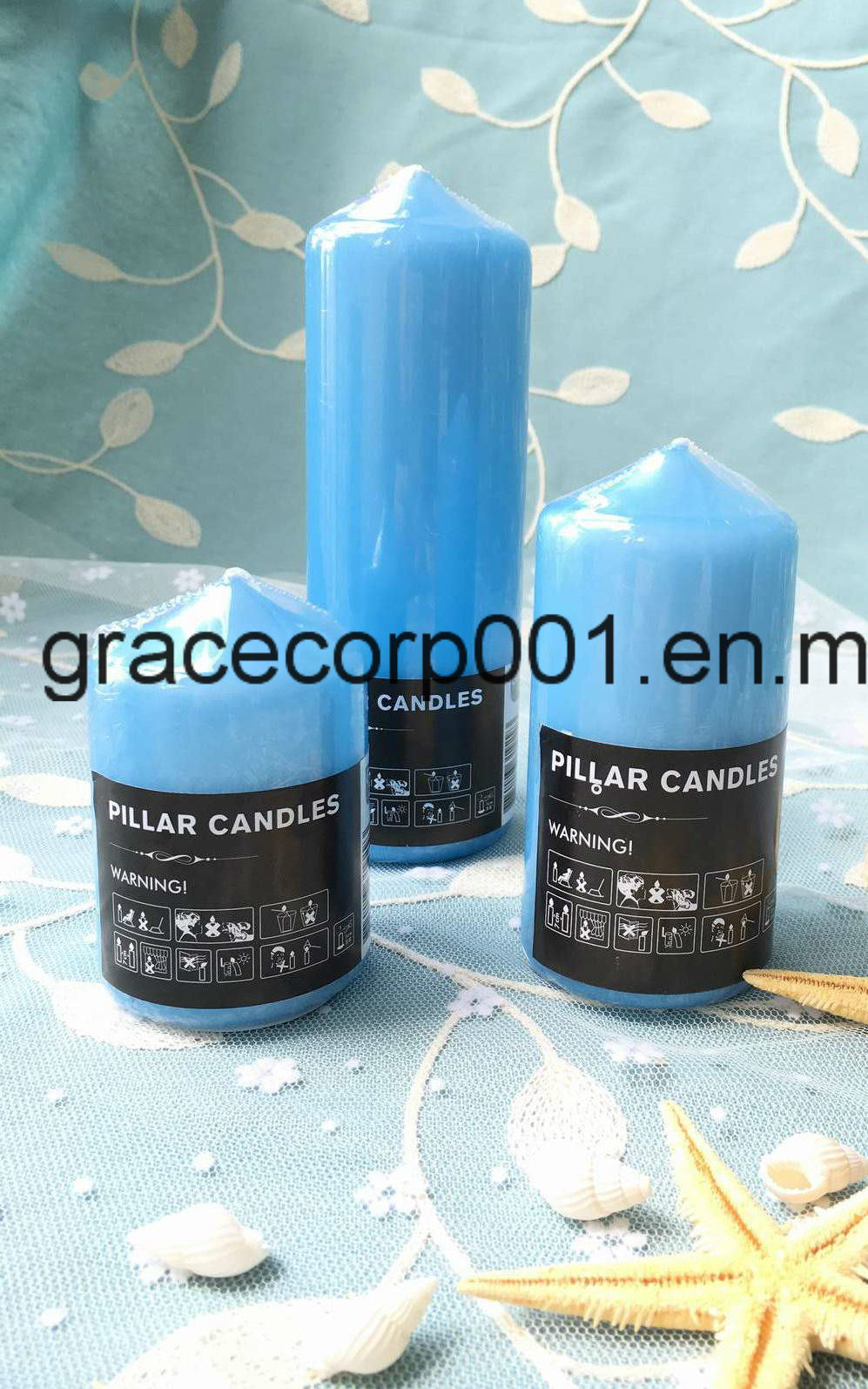 White Pillar Candle 7*10cm
