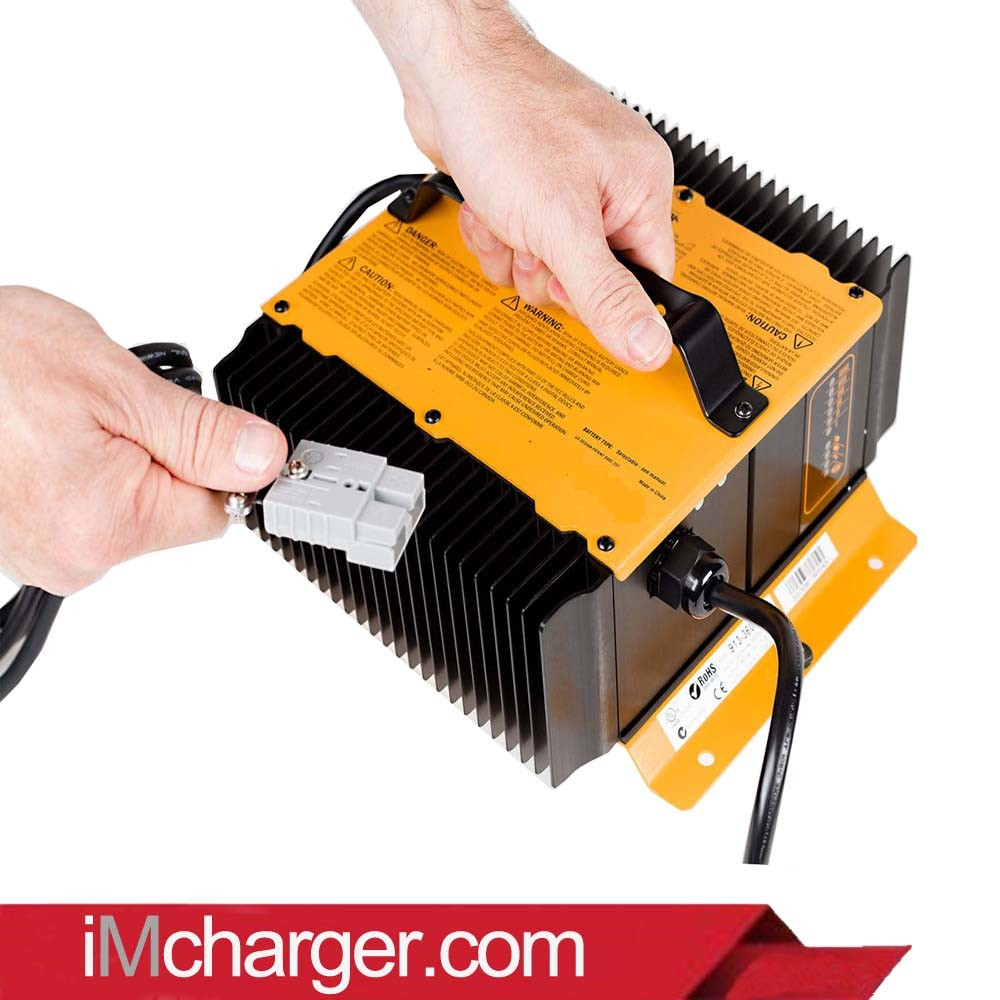 Quick Charger SCP1215 12V 15A Portable Battery Charger Replacement with Interlock