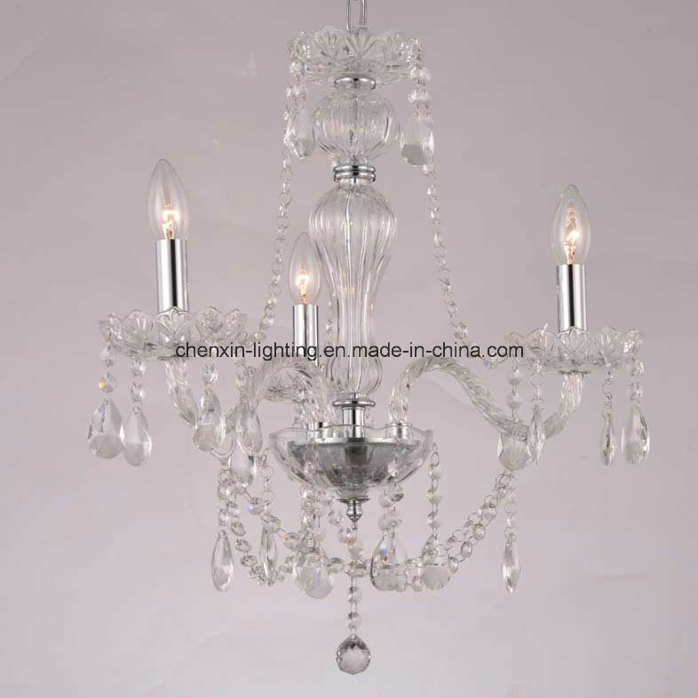 Classic Three Lamp Crystal Chandelier for Home Lighting