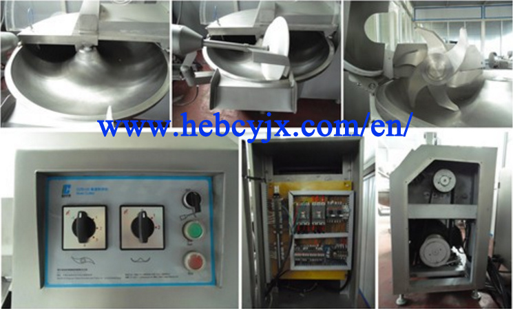 Meat Bowl Cutter Cutting Machine with Ce Certification 60kg Per Time